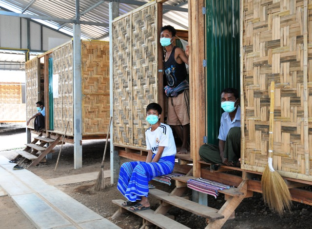 TB-infected patients live in these huts for the duration of their treatment at the Wangpha TB clinic across the border in Thailand