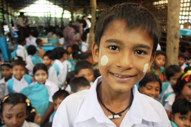 After an absence of more than a year, Phay Ruscome couldn't wait to get back in the classroom. The 9 nine-old Rohingya Muslim is now receiving emergency education at the Thea Chaung IDP outside Sittwe courtesy of a community intervention