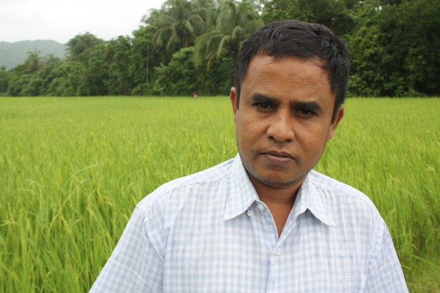 Hla Win, 45, an ethnic Rakhine farmer in Myanmar's western Rakhine State, wasn't able to cultivate his paddy field due to issues of access and insecurity, following two bouts of sectarian violence in 2012. One year on, the impact on local livelihoods ha