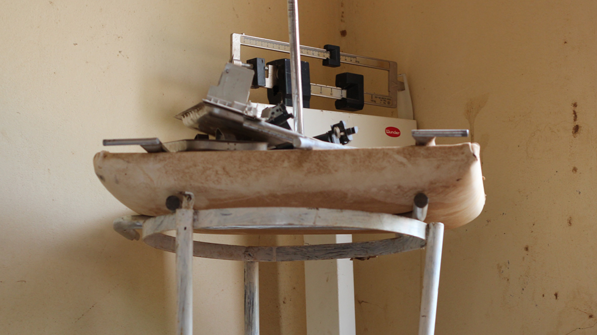 Damaged Medical equipment dumped in a room at a referral health centre in Mali's northern city of Gao. Several health centres in northern Mali were damaged or destroyed during the Islamist occupation of the region