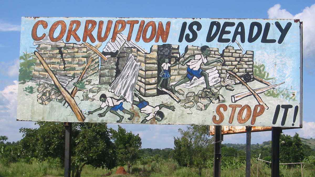 Anti-corruption billboard in Uganda