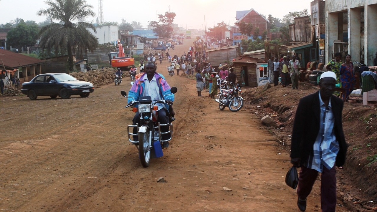 The main road in Beni, eastern DRC