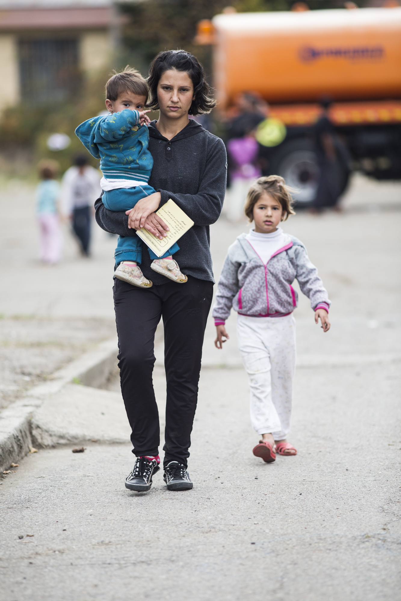 "Zahra Omar Abdelatif fled the Kurdish region of Syria with her husband and three children ""because everyone was killing each other"". They paid a smugger $2,000 to get to Bulgaria and now live in an abandoned schoolhouse awaiting their asylum application t"