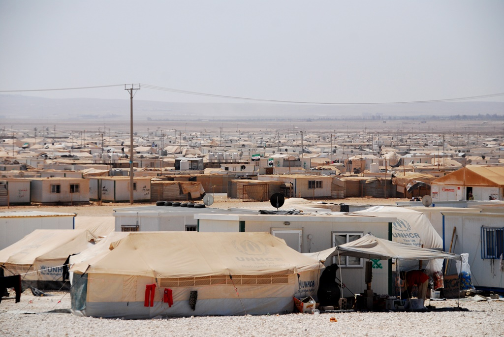 Za'atari Camp for Syrian refugees in northern Jordan