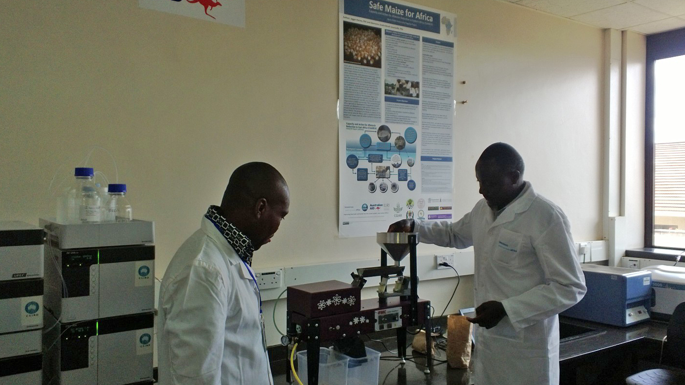 Scientists at an ILRI lab in Nairobi