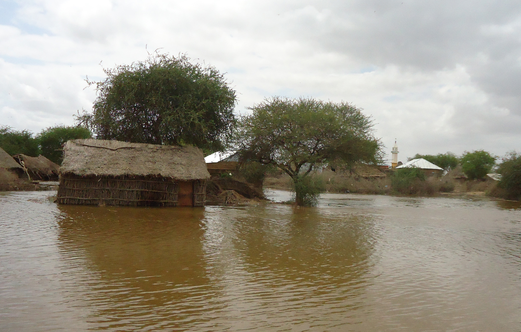A deserted village 4km south of Jowhar in Somalia's Middle Shabelle region.  Flooding since late August has left thousands of people in the region homeless