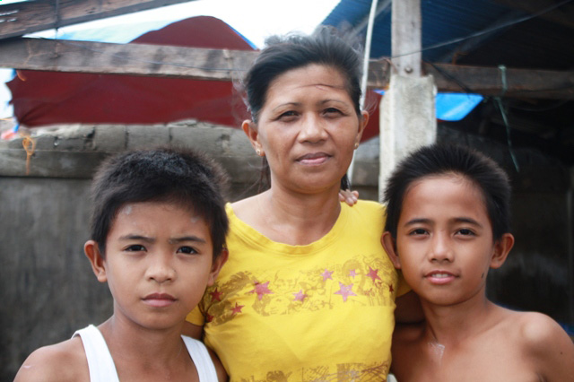 Elsa Raganas, 43, a single mother of four, lost her home to Typhoon Haiyan in the town of Palo on 8 November, 2013