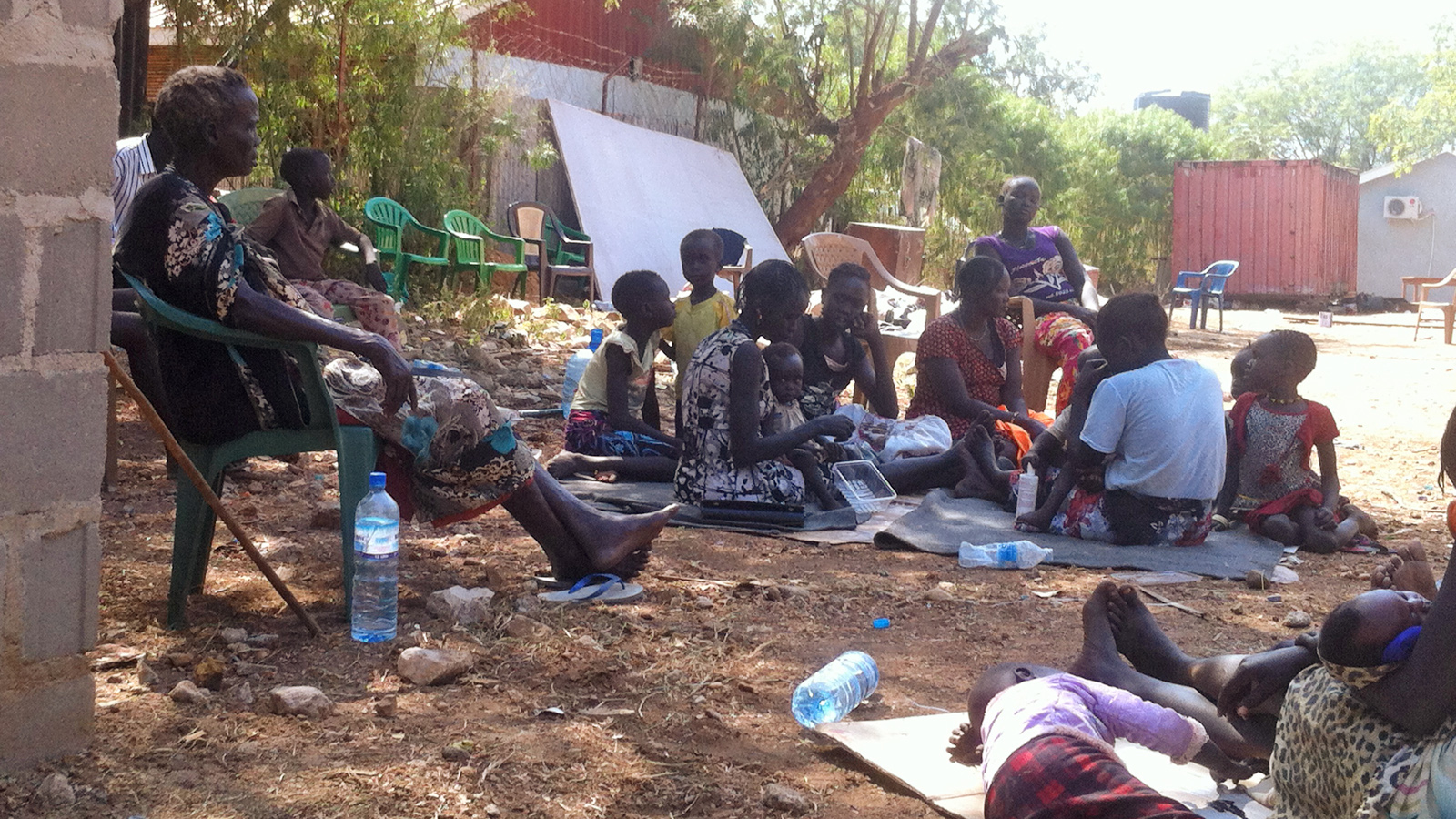 Internally displaced people at the Episcopal Cathedral in Juba
