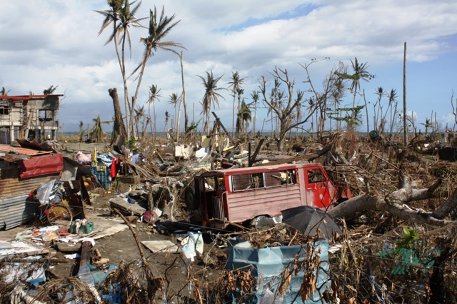 The coastal town of Palo, central Philippines. More than 14 million people were affected when Typhoon Haiyan slammed into the central Philippines on 8 November 2013, leaving more than 4 million displaced and over 6,000 dead