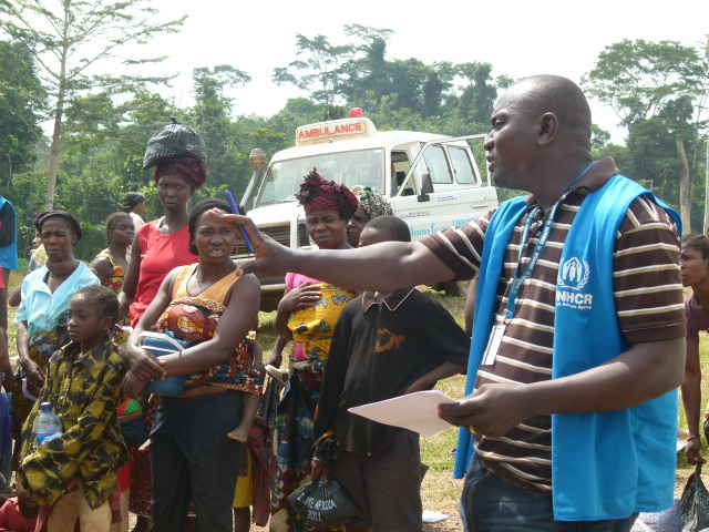 Ivoirian refugees being repatriated home from Liberia