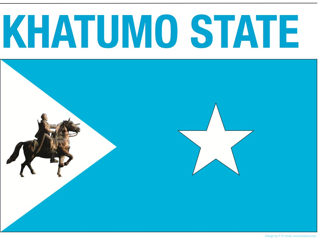 The flag of Somalia's Khatumo state, created by elders in January 2012