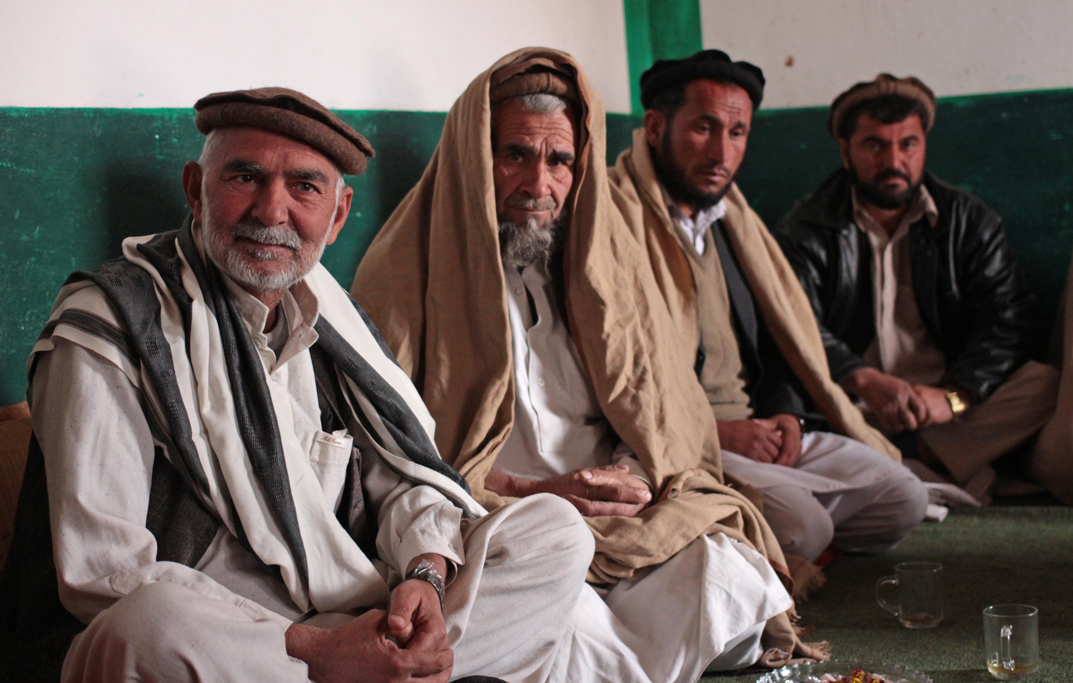 Afghan refugee returnees from Pakistan living on the outskirts of Jalalabad.
