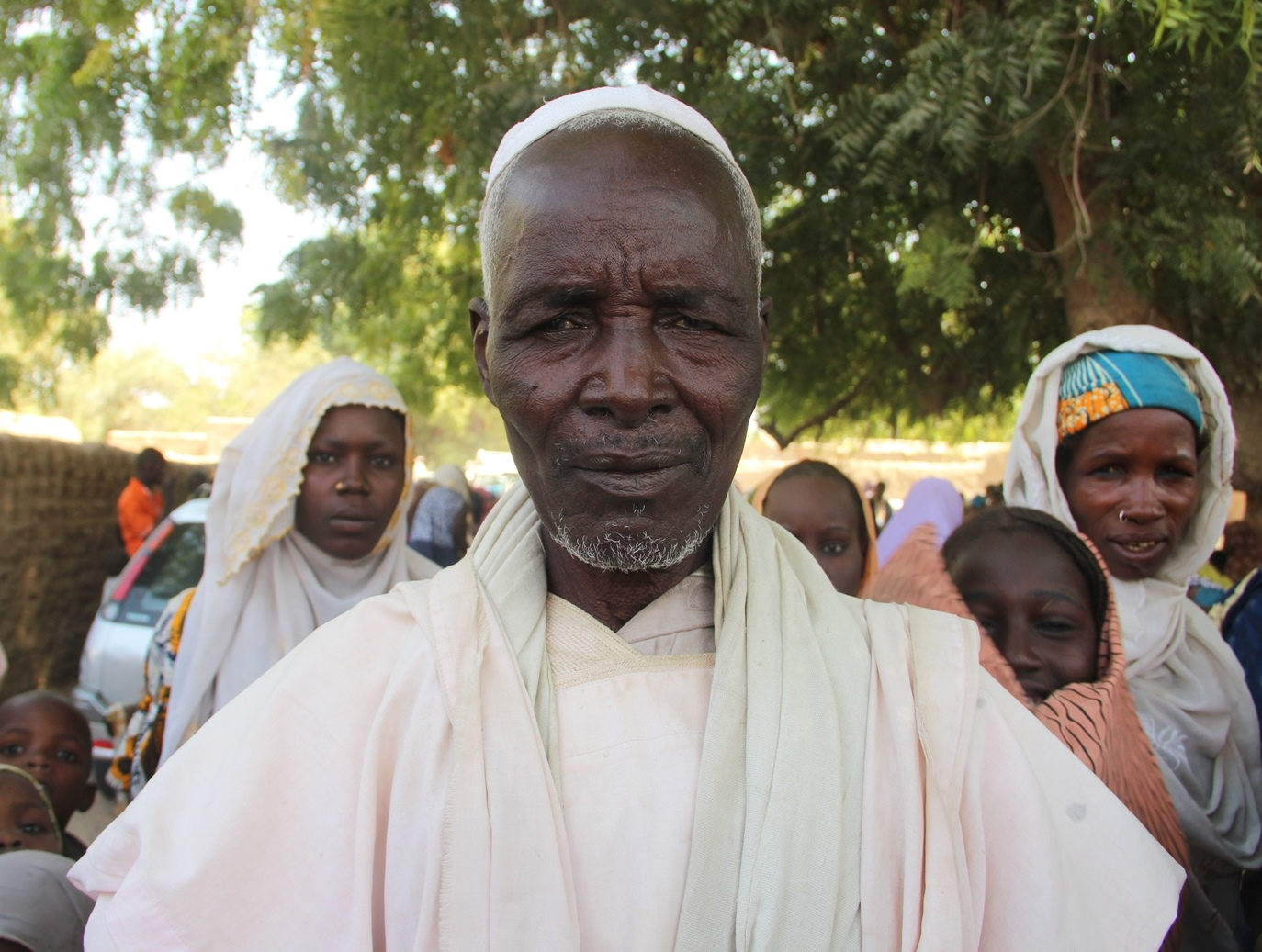 Kaselma Bouma, chief of Gasseré village in Niger, on the Nigeria border, which took in 80 displaced families who fled a Boko Haram attack on 18th January. UNHCR and ICRC provided aid to some of the families at the end of January. on the border of Niger a