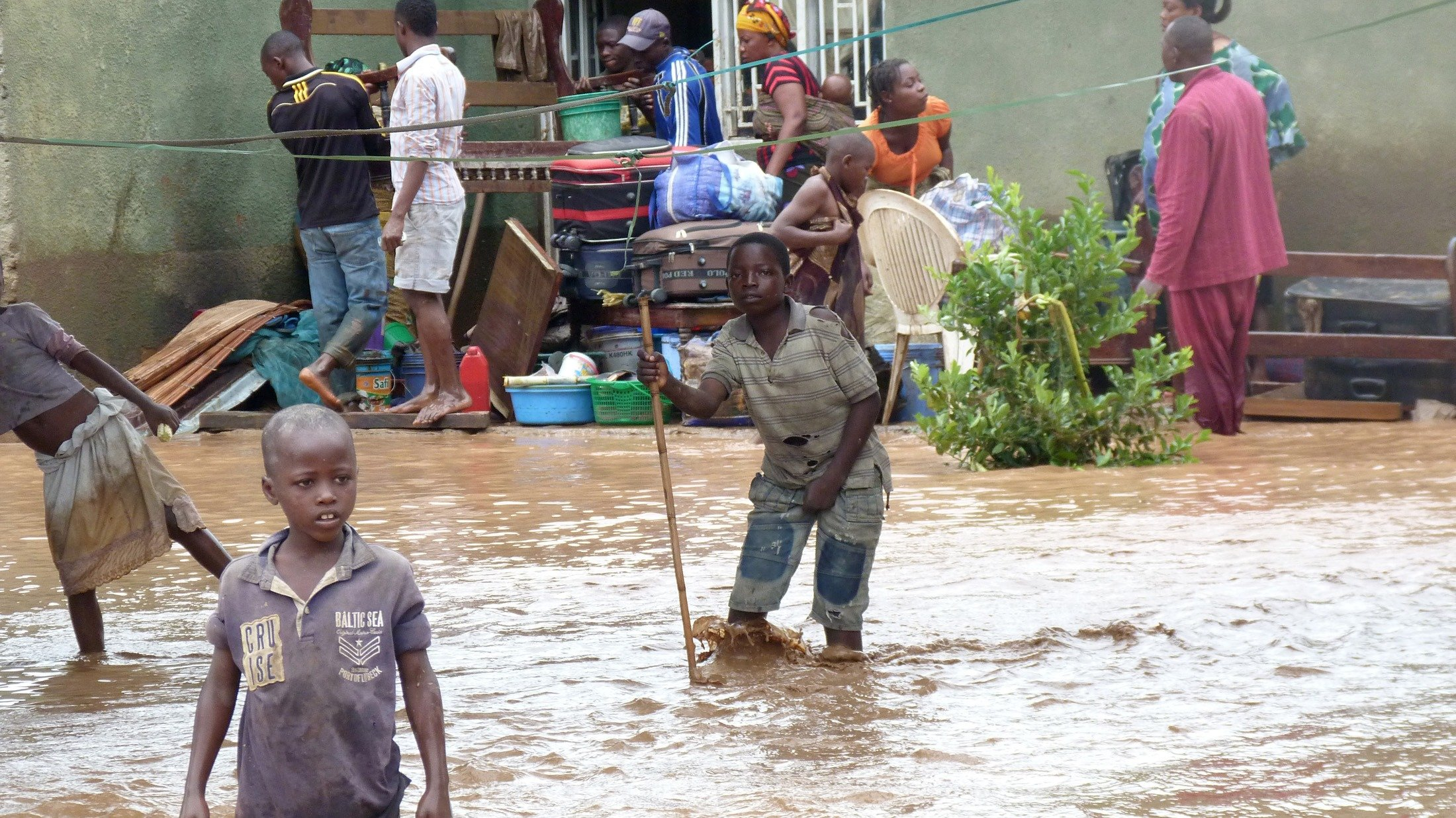 Floods in the Mutakura district of Bujumbura