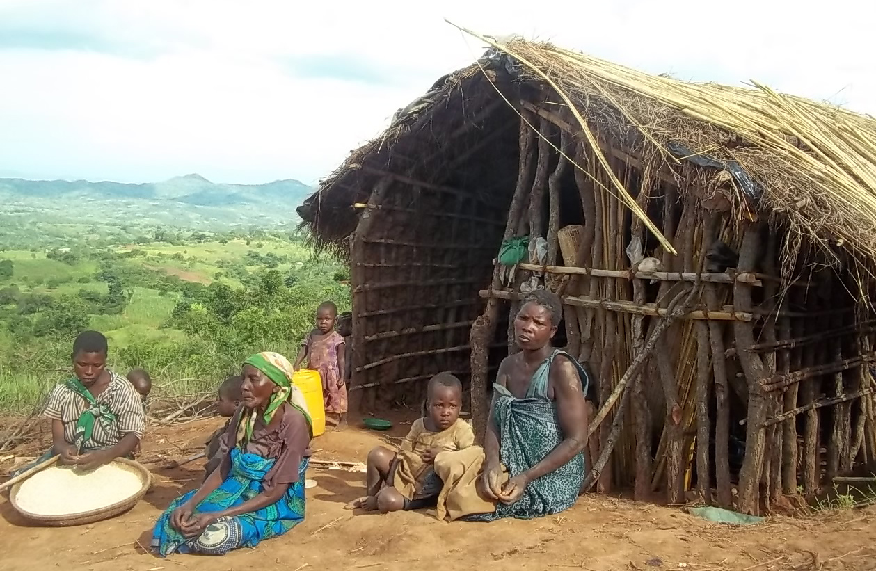 Medeliya Ludaviko and her family fled fighting in Mozambique in January 2014 and have been given temporary shelter in Kasipe 2 village in Malawi's Mwanza district