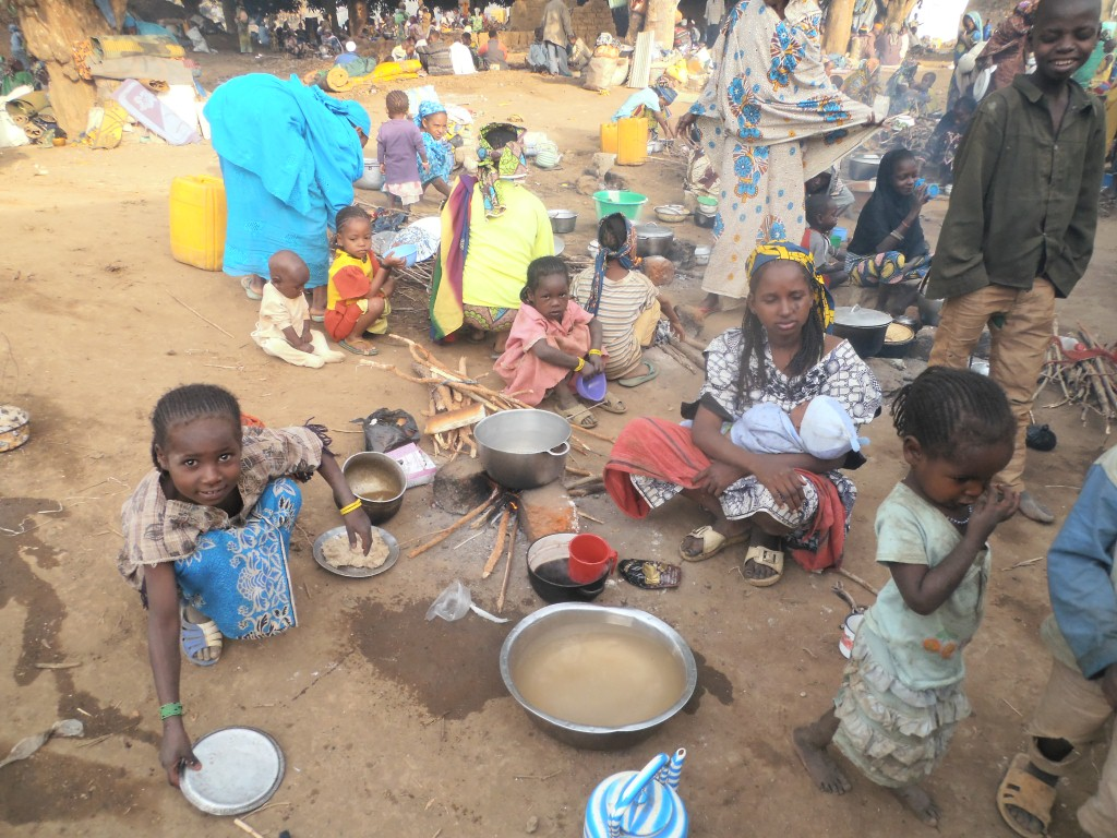 Refugees who have fled Central African Republic in Jan, Feb and March 2014 and are staying in one of the temporary camps in Garoua-Boulai, in Cameroon's East Region.