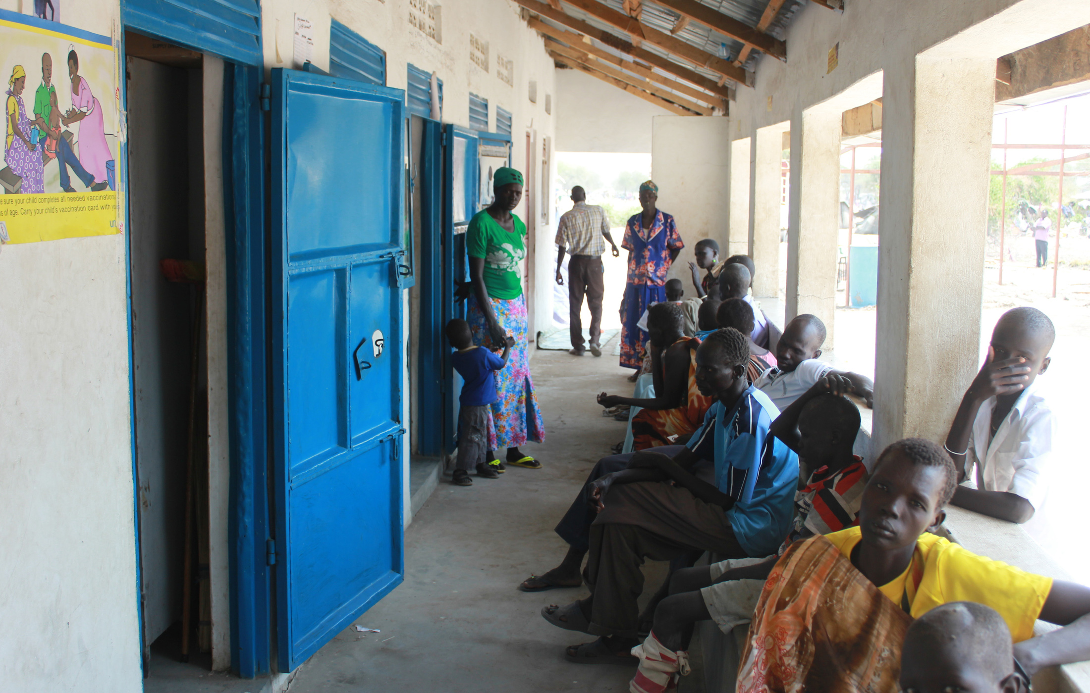 A local outpatient clinic in Minkaman, Awerial County, South Sudan