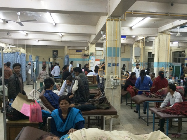 Inside a hospital in Kathmandu. Access to healthcare remains a key challenge in Nepal