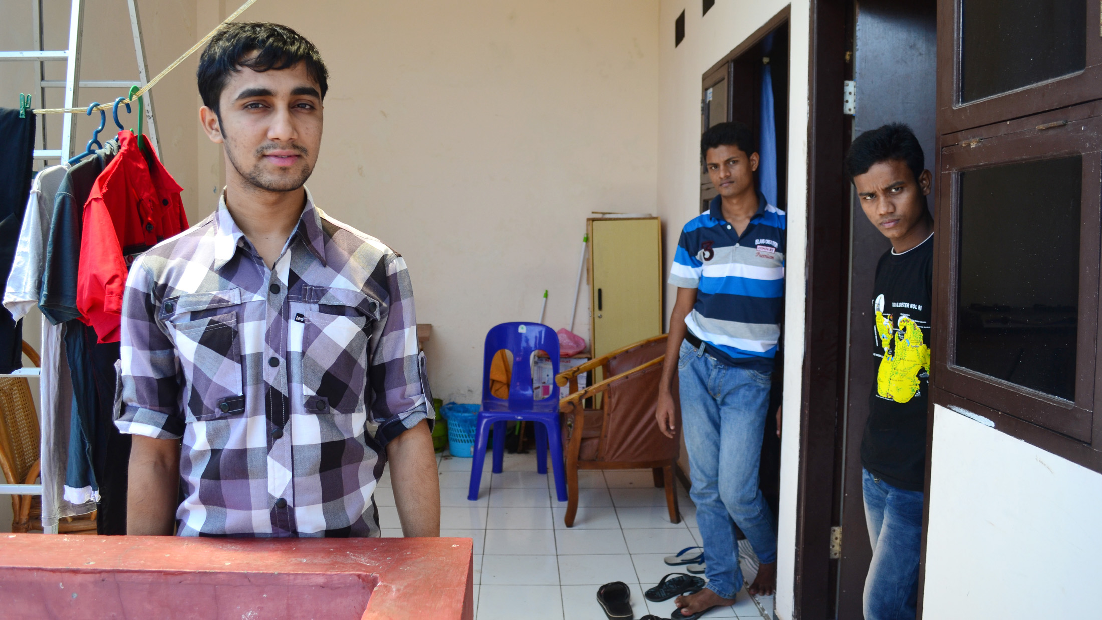 Mohammed Musa, 20, a Rohingya refugee from Myanmar has been in Indonesia for a year, eight months of which he spent in detention. Now he is staying at accommodation provided by the International Organization for Migration in Makassar