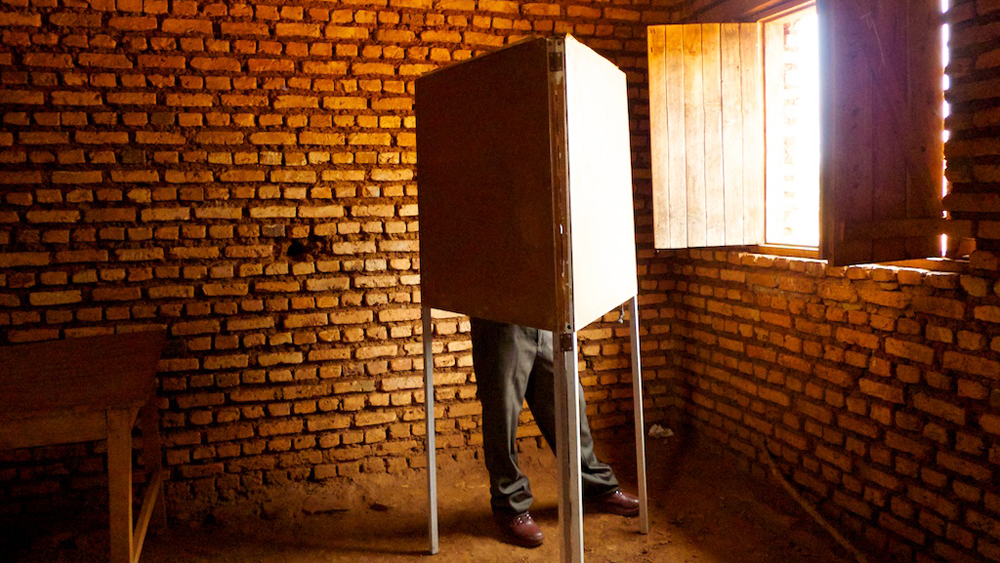 Voter in Burundi. July 23, 2010