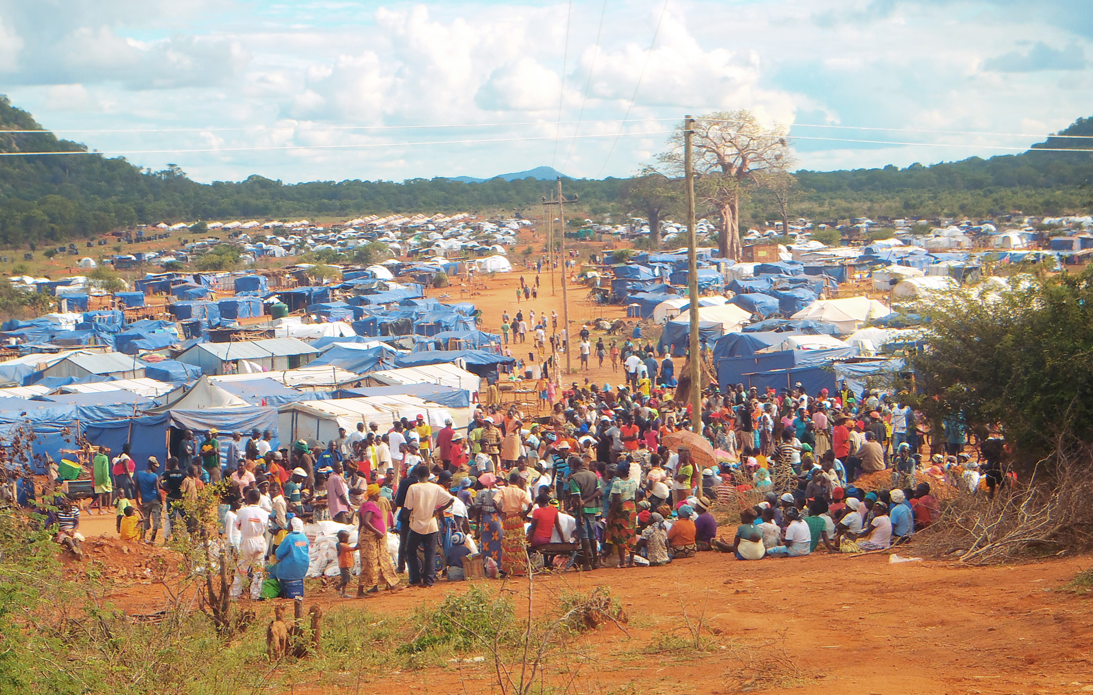 Over 3,000 families have been staying at Chingwizi transit camp since being displaced by flooding in Tokwe-Mukosi dam basin in Zimbabwe's southeastern Masvingo Province in early February 2014