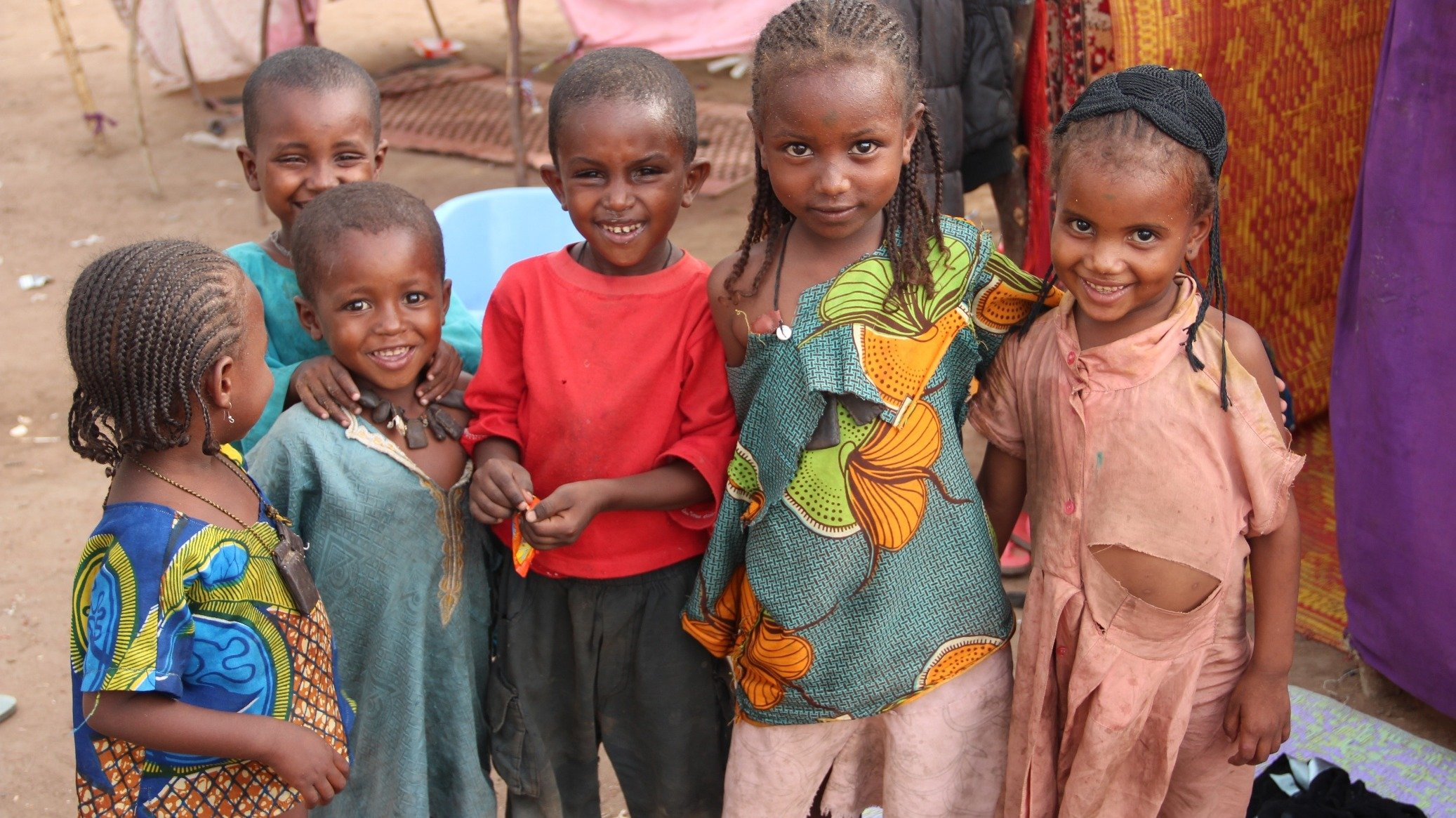 Children from CAR in southern Chad's Doyaba transit camp. May 2014.