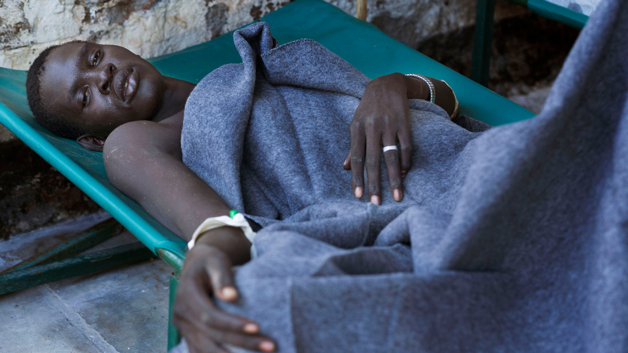 Patients receiving treatment at the Juba Teaching Hospital.