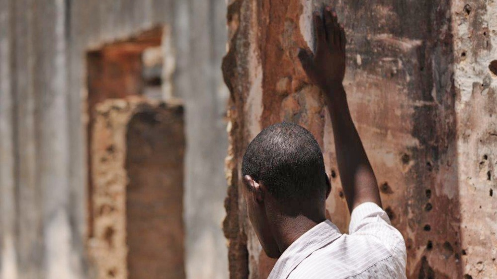 A former Al-Shabab fighter at a rehabilitation centre in Baidoa under construction