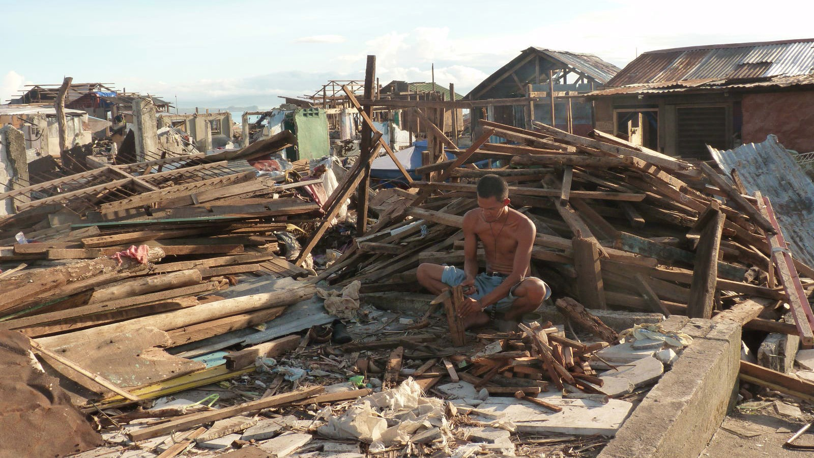 Relief to survivors of Typhoon Haiyan, which struck the Philippines in November 2013, has been limited in some areas - especially for shelter