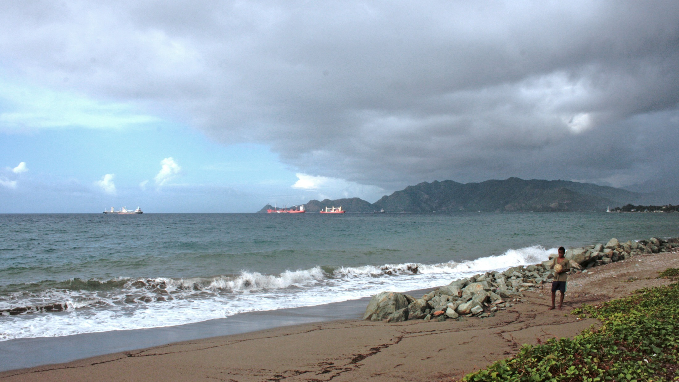 The harbour in Dili, Timor-Leste sees a steady stream of tanker ships bringing much-needed imports to the half-island impoverished nation.