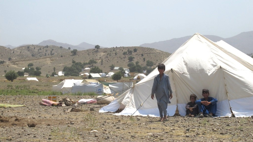 Around 3,000 Pakistani families have fled a military offensive in North Waziristan for Gulan camp across the border in Afghanistan's Khost Province.