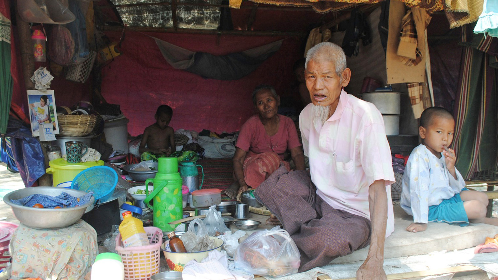 Interfaith marriages are rare in Myanmar, a predominantly Buddhist country. This couple, a Muslim man and a Buddhist woman were among those forced to flee their home after communal violence broke out in Meiktila in 2013.