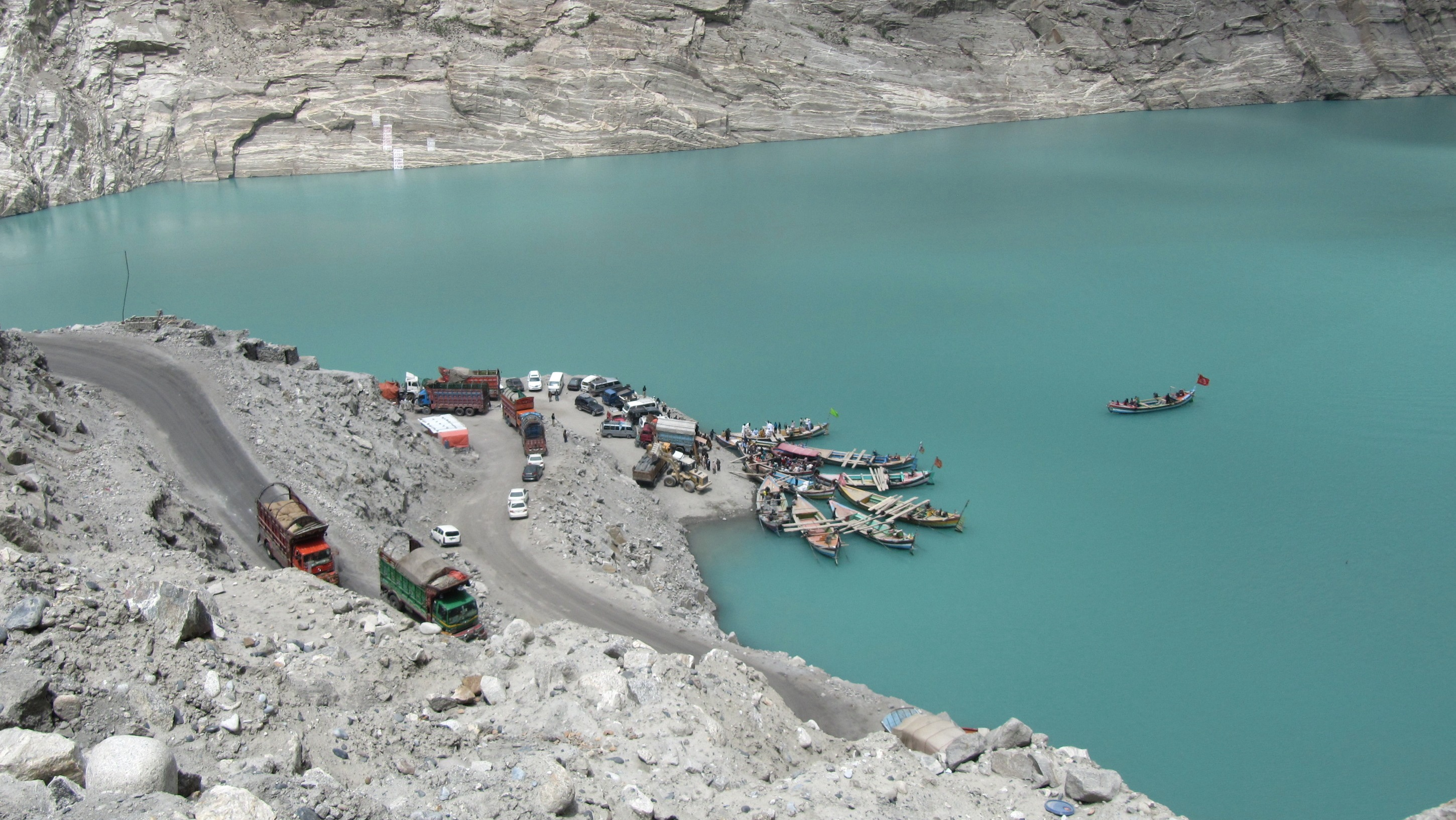 The village of Attabad was among a number destroyed in 2010 by a landslide that left behind the 21-kilometer Attabad Lake. Four years later the IDPs are still awaiting rehousing.