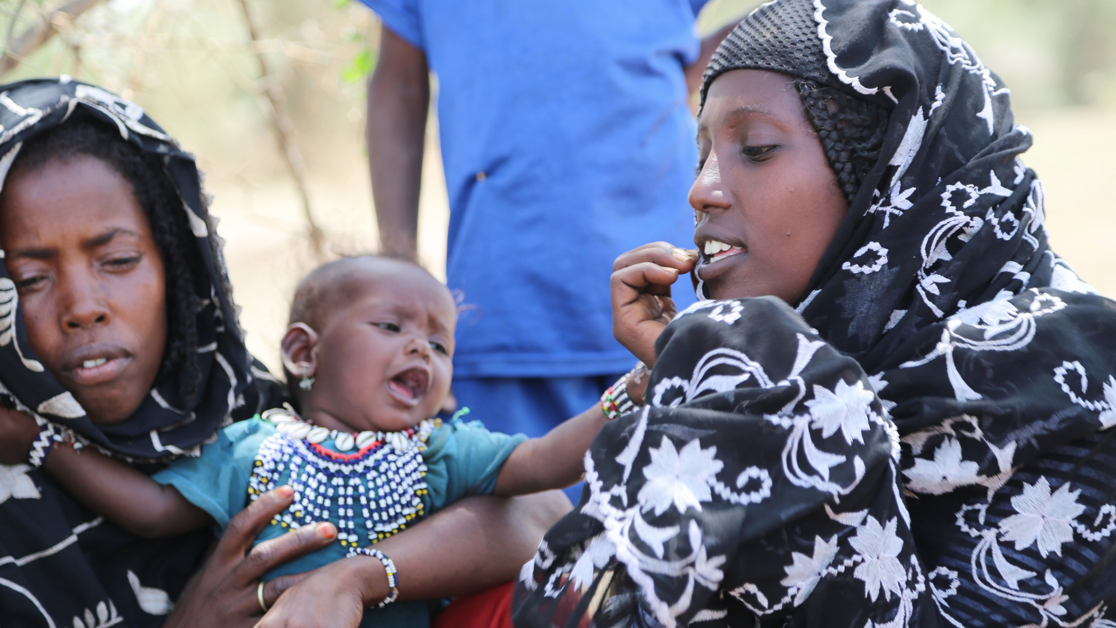 Fatuma Ahmed (on the right), a pastoralist in Ethiopia's Afar region, where women are seen and not heard