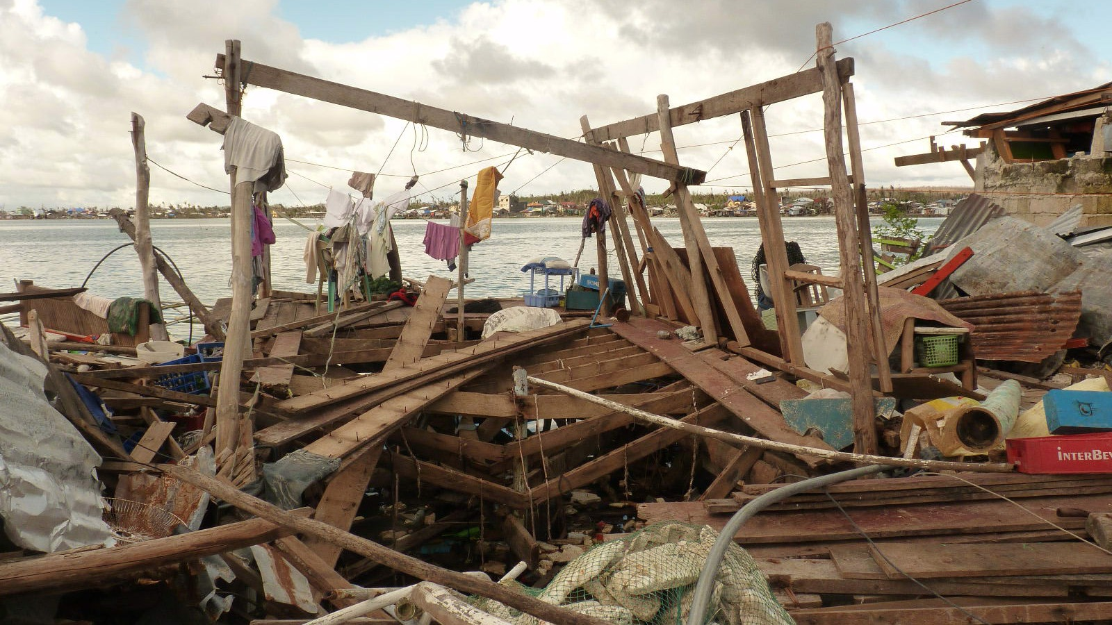 Wreckage from typhoon Haiyan (Yolanda) in the Philippines prompted