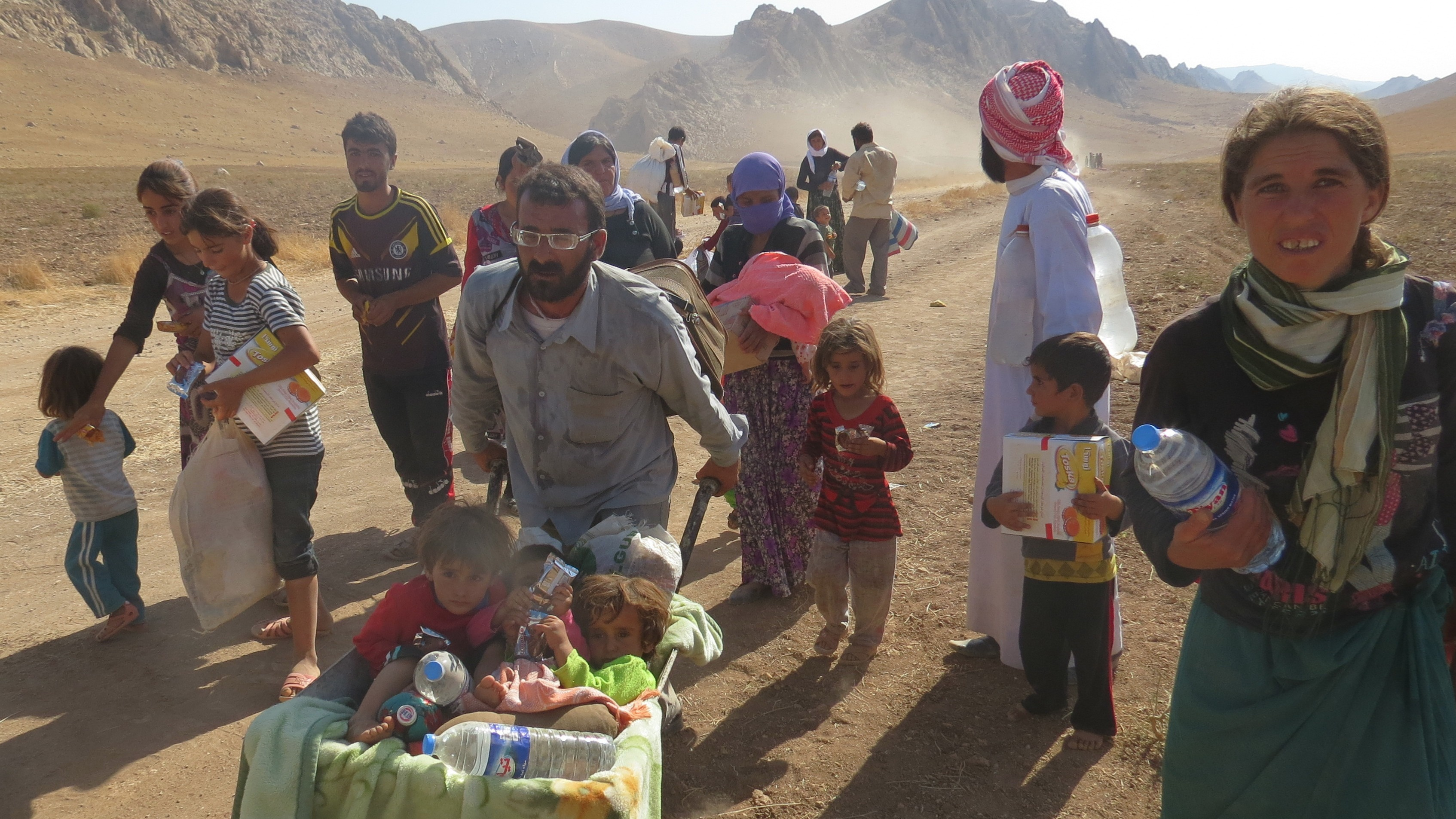 Thousands of Iraqis have fled the Sinjar region following advances by the group calling themselves the Islamic State (ISIS).