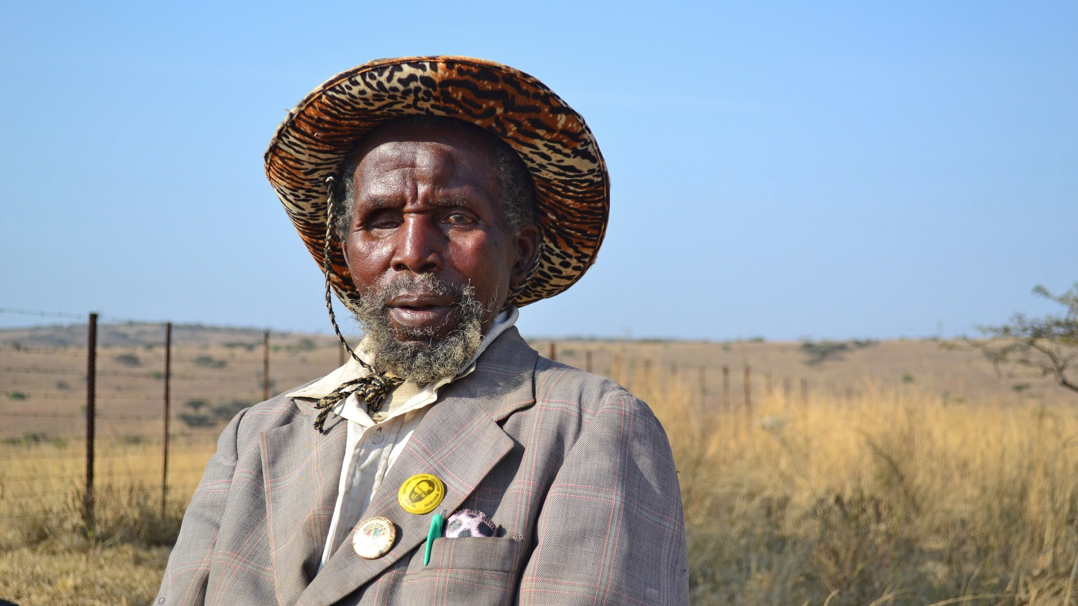 Titus Zulu, 87, has lived on the Babanango settlement in South Africa's KwaZulu-Natal Province all of his life. His grandparents farmed the land for themselves, but he and his family were forced to work as labour tenants for white farmers.