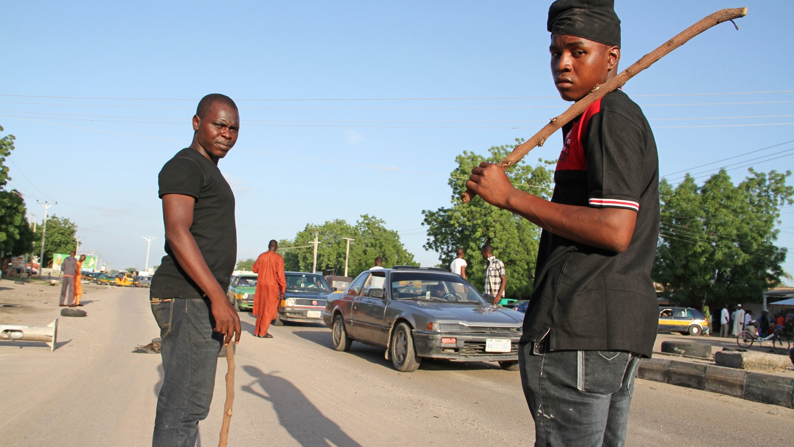 Vigilantes now patrol the streets of Maiduguri, Nigeria