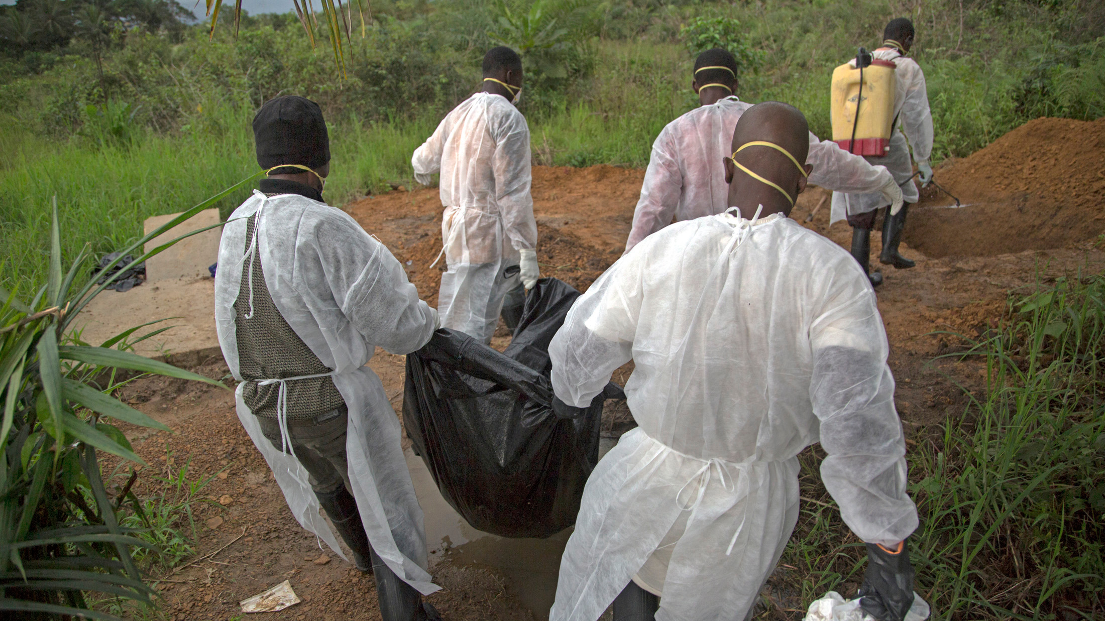 In Unification Town, Liberia young men take on the grim job of burying the dead lost to the Ebola virus currently devastating West Africa. (Sep 2014)