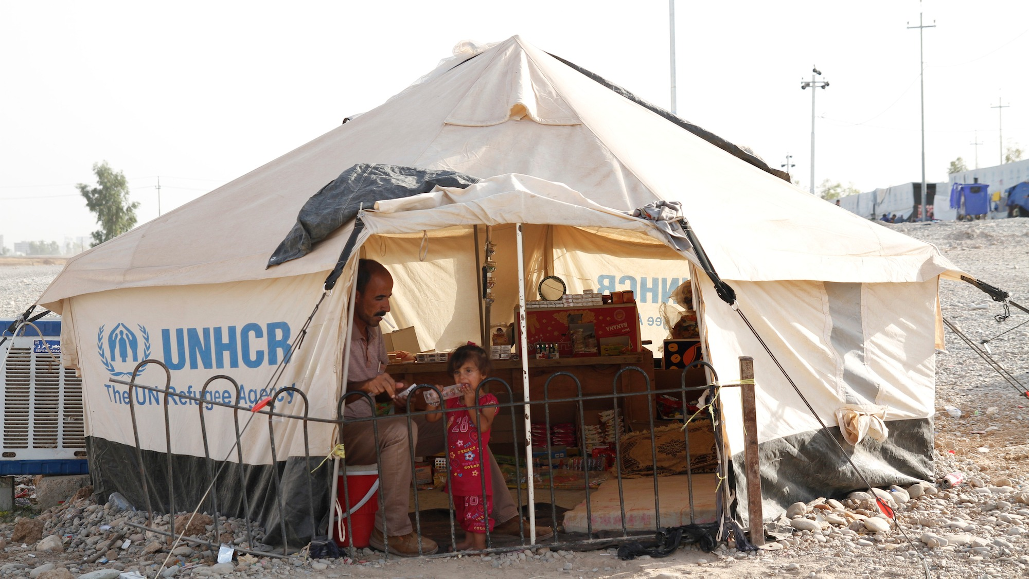 Syrian refugees and Iraqi refugees live in separate camps in northern Iraq