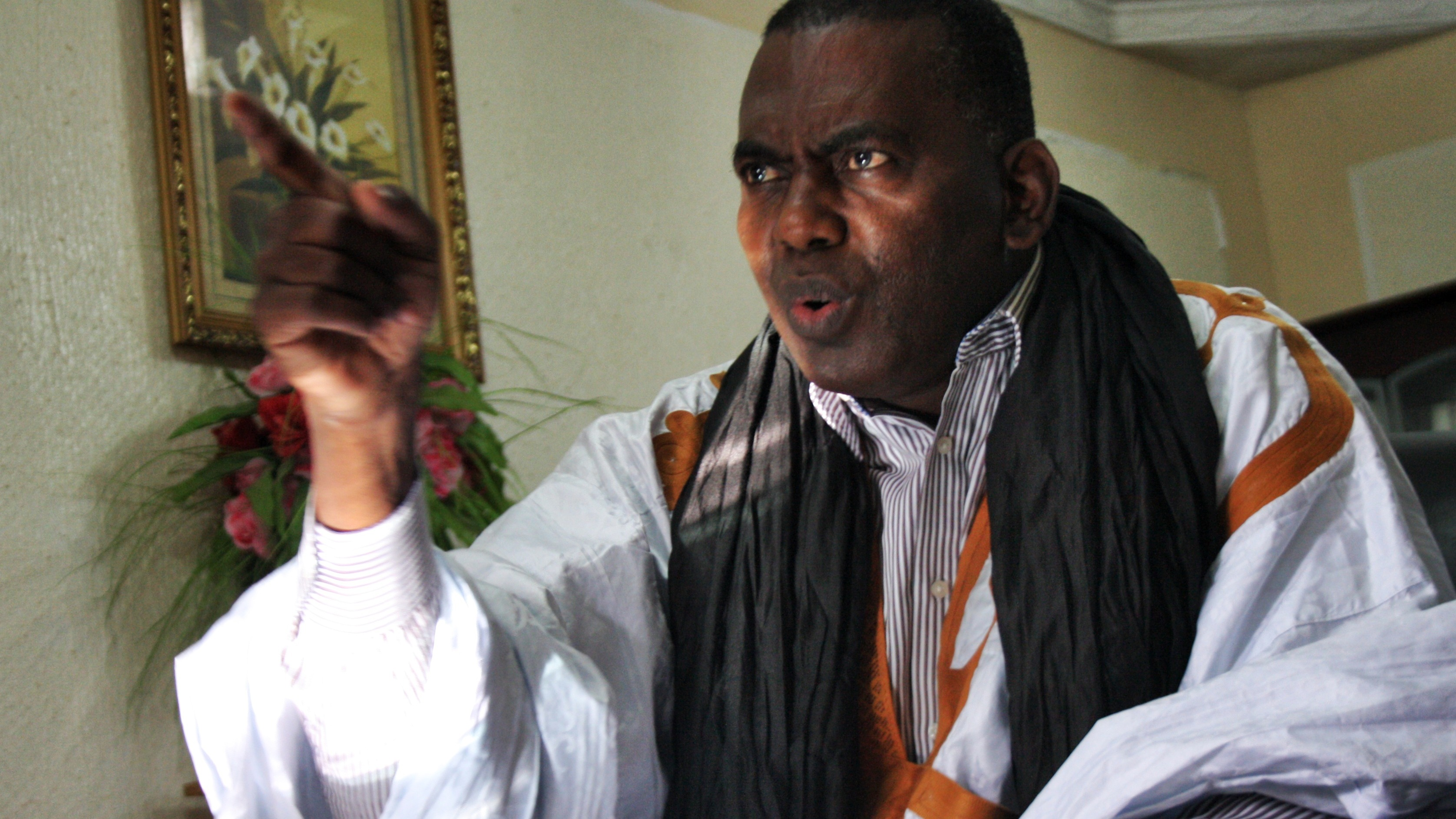 Biram Dah Abeid, the Mauritanian anti-slavery activist, a few days before his arrest.