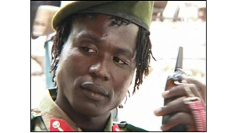 Screen grab of senior LRA leader Dominic Ongwen, who is soon to be transferred to the International Criminal Tribunal in the Hague.