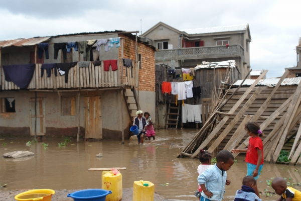 Families living in urban low-lying slums of Antananarivo have been particularly affected by the flooding