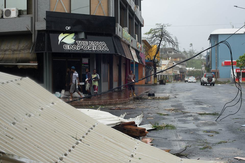 Port Vila, Vanuatu, aftermath of cyclone Pam, 14 March 2015