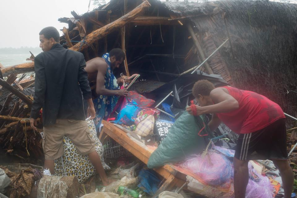 Vanuatu aftermath of Cyclone Pam, 13 March 2015