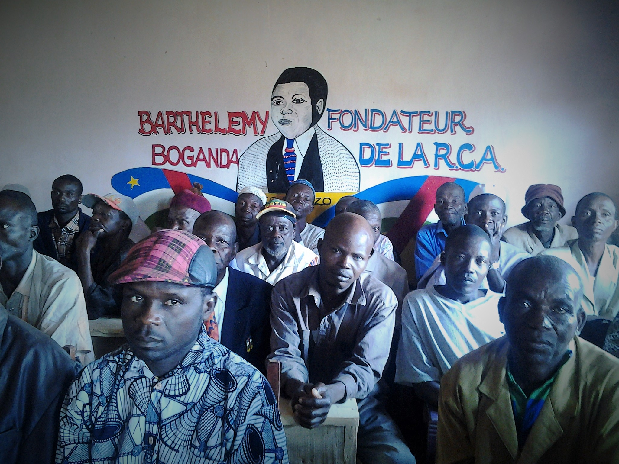 The town of Baoro air their grievances at an April 2015 consultation meeting that is part of reconciliation efforts in the Central African Republic