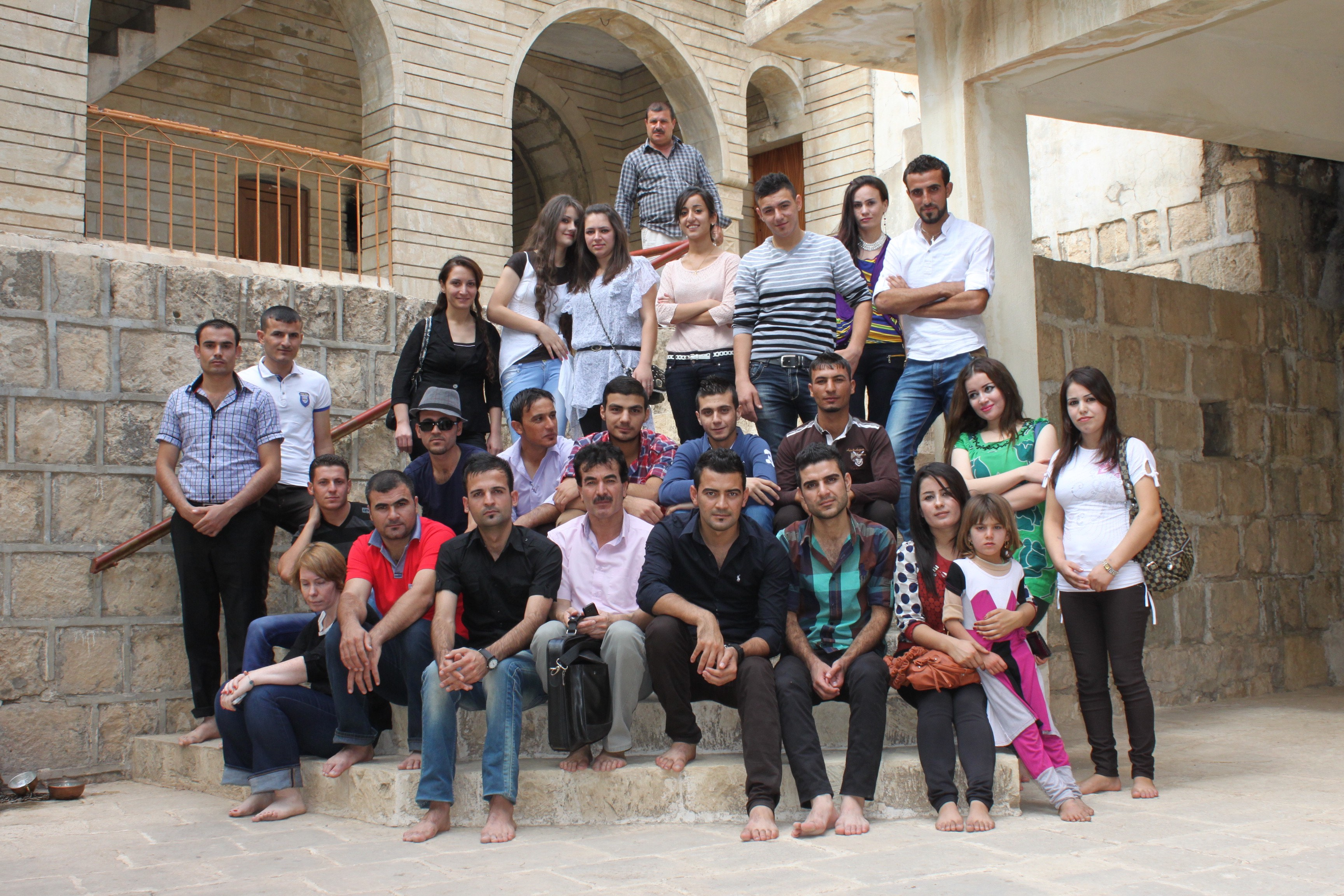 The Kullina Muwatanin youth group visits Lalish Temple - a key place of worship for Yazidis. The temple is 50km north of Mosul in Dohuk Governorate. Picture taken October 2013