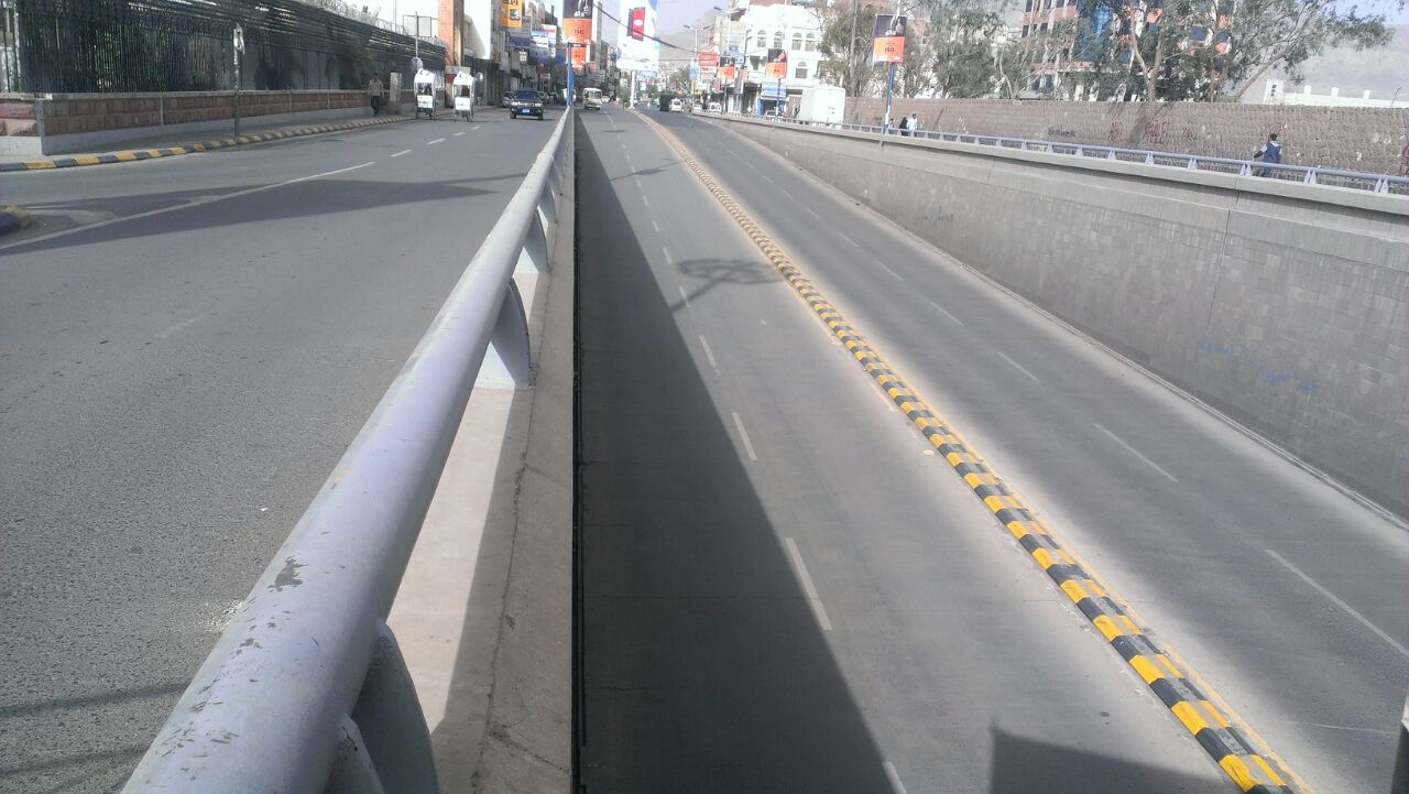Three weeks after a Saudi-led bombing campaign against Yemen began, many roads are deserted