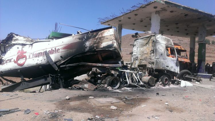 Petrol stations in Yemen have been targeted by airstrikes during the Saudi Arabian-led bombing campaign
