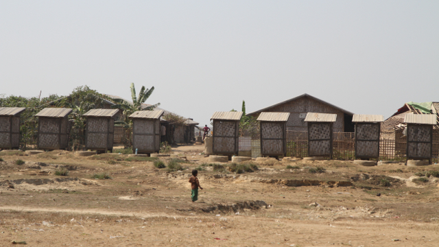 Ohn Taw Gyi South camp for displaced Muslims in Rakhine state, Myanmar. Some 140,000 Rohingya live in in camps set up in the wake of the 2012 violence that exploded between Muslims and the Rakhine Buddhist majority. About 10,000 Buddhists also remain disp